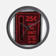 Push To Eject Wall Clock