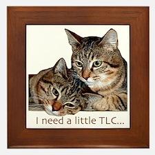 TLC tabbies Framed Tile