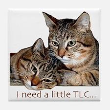 TLC tabbies Tile Coaster
