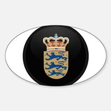 Coat of Arms of Denmark Oval Decal