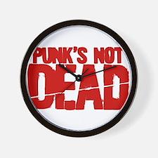 Punk's Not Dead Wall Clock