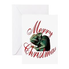 Christmas Chameleon Greeting Cards (Pk of 10)
