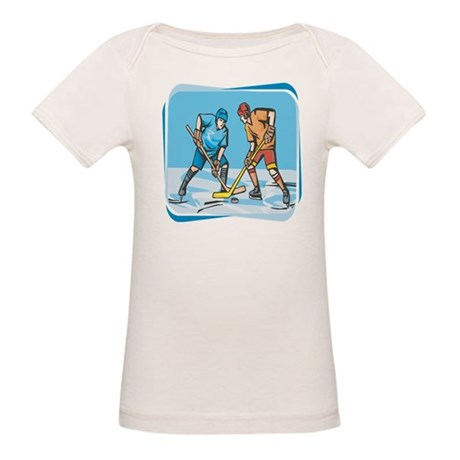 Hockey Players On Ice Organic Baby T-Shirt