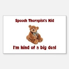 Speech Therapist Rectangle Sticker 10 pk)