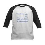 Wear a bunny shirt Kids Baseball Jersey