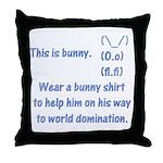 Wear a bunny shirt Throw Pillow