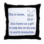 Give bunny as a gift Throw Pillow