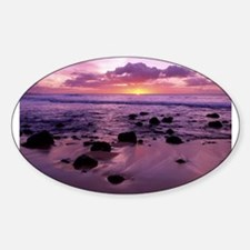 Molokai Sunset Oval Decal