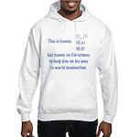 Get bunny on Christmas Hooded Sweatshirt