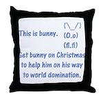 Get bunny on Christmas Throw Pillow