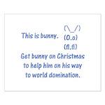 Get bunny on Christmas Small Poster