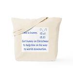 Get bunny on Christmas Tote Bag