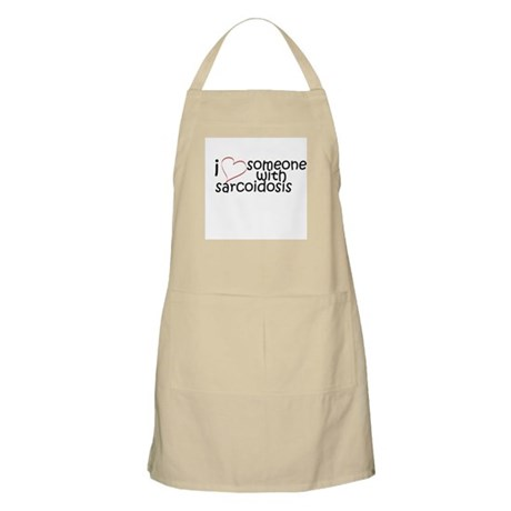 i <3 someone with sarcoidosis BBQ Apron