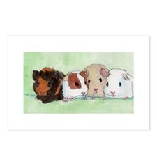 Funny Guinea pig art Postcards (Package of 8)