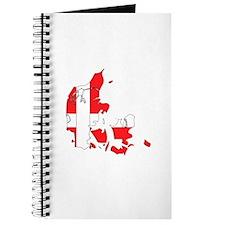 Denmark Flag Map Journal