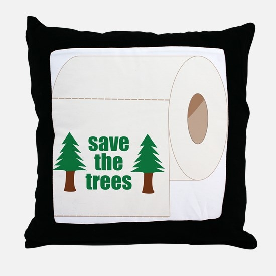 Save The Trees! Throw Pillow