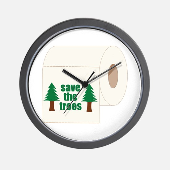 Save The Trees! Wall Clock