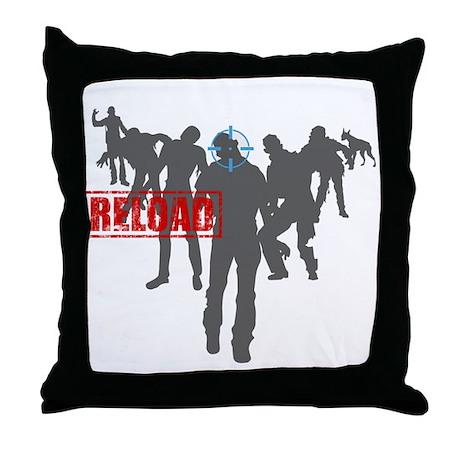 Kill The Zombies Throw Pillow