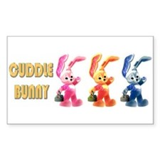 Cuddle Bunny Rectangle Decal