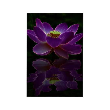 Moonlight Lotus Flower Rectangle Magnet (10 pack)