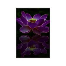 Moonlight Lotus Flower Rectangle Magnet