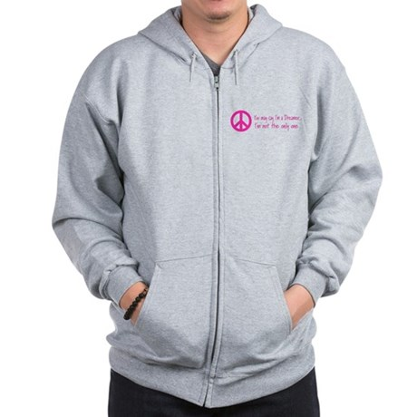 You May Say I'm a Dreamer Pin Zip Hoodie