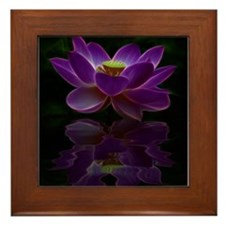 Moonlight Lotus Flower Framed Tile
