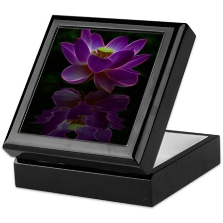 Moonlight Lotus Flower Keepsake Box