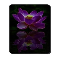 Moonlight Lotus Flower Mousepad