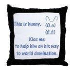 Kiss me to help bunny Throw Pillow