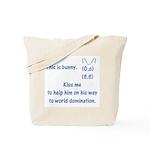 Kiss me to help bunny Tote Bag