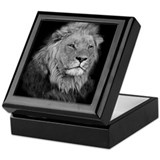 Lion keepsake box Square Keepsake Boxes