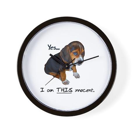 Innocent Puppy Wall Clock
