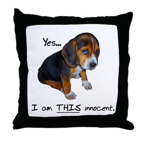 Innocent Puppy Throw Pillow