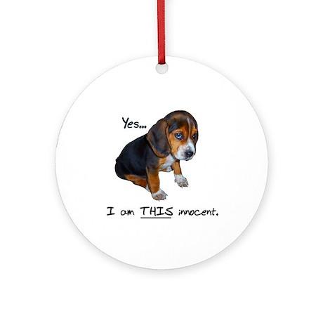 Innocent Puppy Ornament (Round)