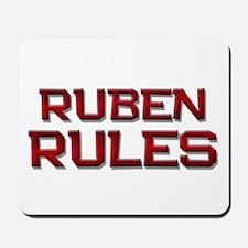 ruben rules Mousepad