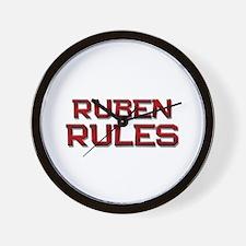 ruben rules Wall Clock