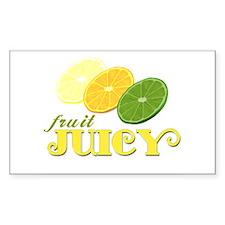Juicy Fruit Rectangle Decal