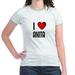 I LOVE ANITA Jr. Ringer T-Shirt