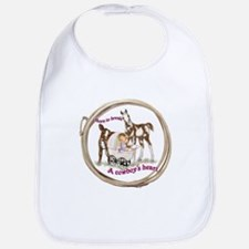 Cute Rodeo baby Bib