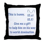 Give me a gift to help bunny Throw Pillow