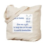 Give me a gift to help bunny Tote Bag