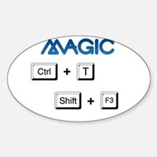 ctrl + t -- shift + f3 Oval Decal