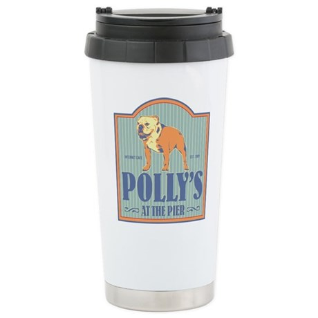 Polly's at the Pier Stainless Steel Travel Mug