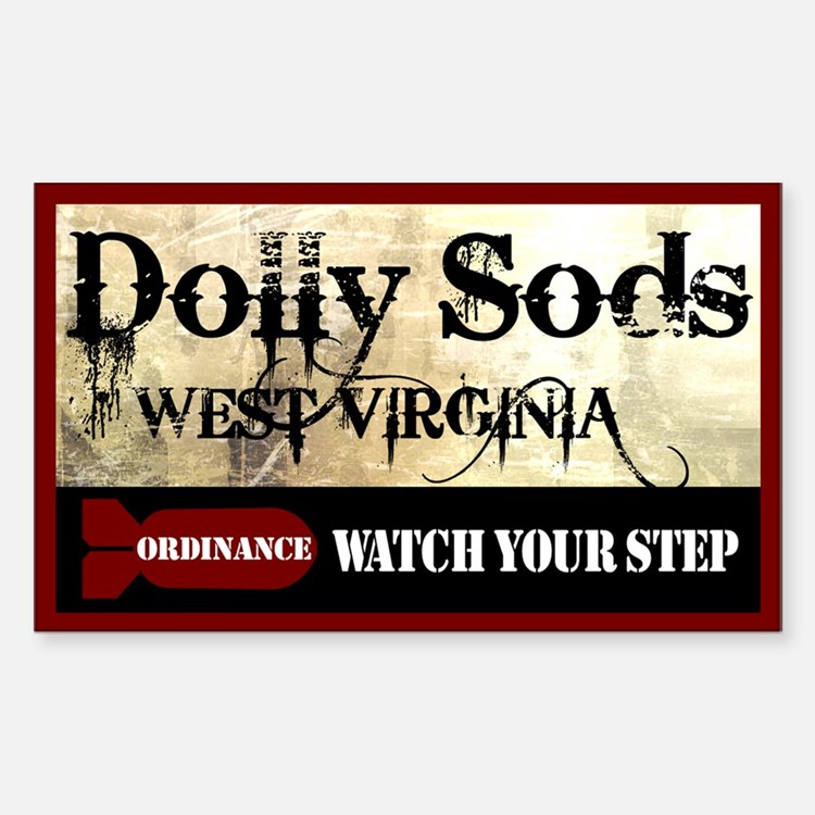 Dolly Sods - Watch Your Step Rectangle Decal