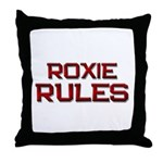 roxie rules Throw Pillow