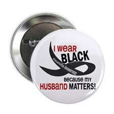 "I Wear Black For My Husband 33.2 2.25"" Button"