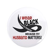 "I Wear Black For My Husband 33.2 3.5"" Button"