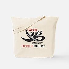I Wear Black For My Husband 33.2 Tote Bag