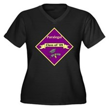 Paralegal Graduate Women's Plus Size V-Neck Dark T